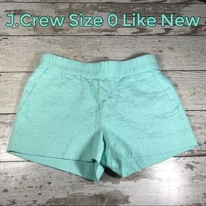 Shorts Size 0 J.Crew Soft Boardwalk Style Like New